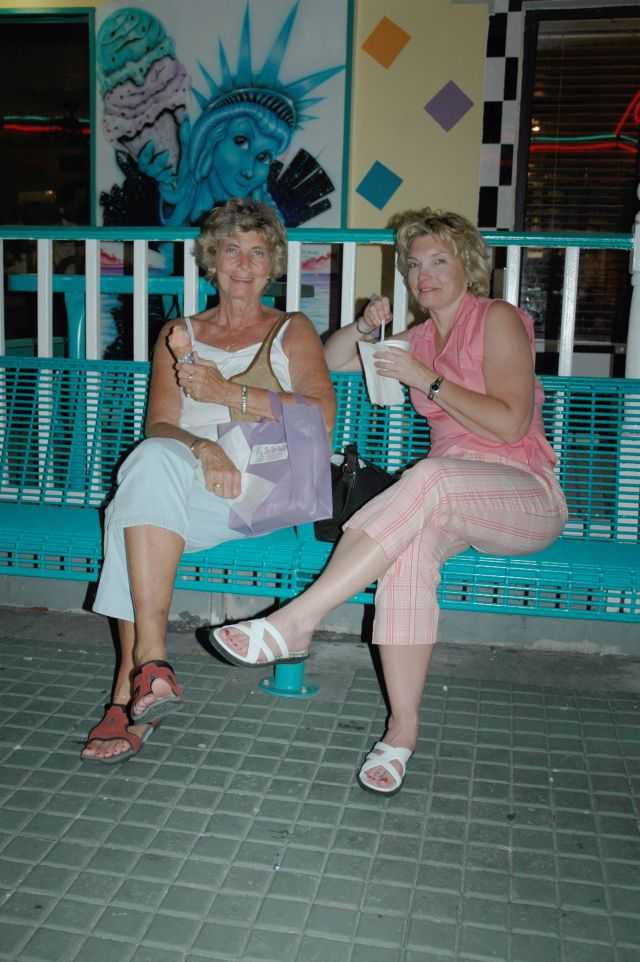 Betty and Cheryl at the Ice Cream Parlor - Fort Myers Beach FL