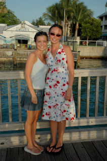 Aimee and Katie - Mallory Square - Key West FL
