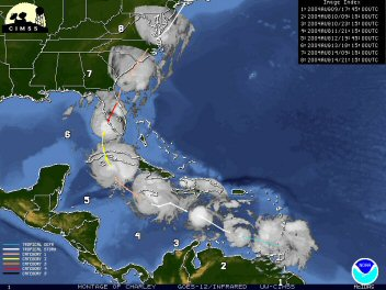 Track of Hurricane Charlie