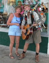 Betty and Mallory Square Guy - Key West FL