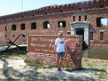 Betty at Fort Jefferson - Dry Tortugas Florida
