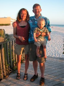 Marcus with Mom and Dad - Holmes Beach FL
