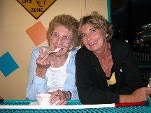 Midge and Betty at the Ice Cream Parlor - Fort Myers Beach FL